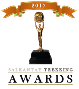 Salkantay Trekking has won or been nominated for many awards in 2017. We are pleased and proud to receive these recognitions and Awards. It is an incentive to us to continue to provide the unique expeditions and Trekking experiences in the Peruvian Andes.