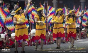 Young andean girls