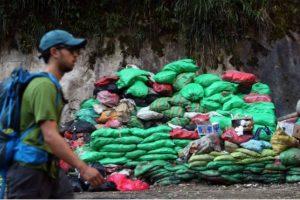 Garbage in Machu Picchu