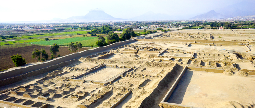 The archeological zone of Chan Chan
