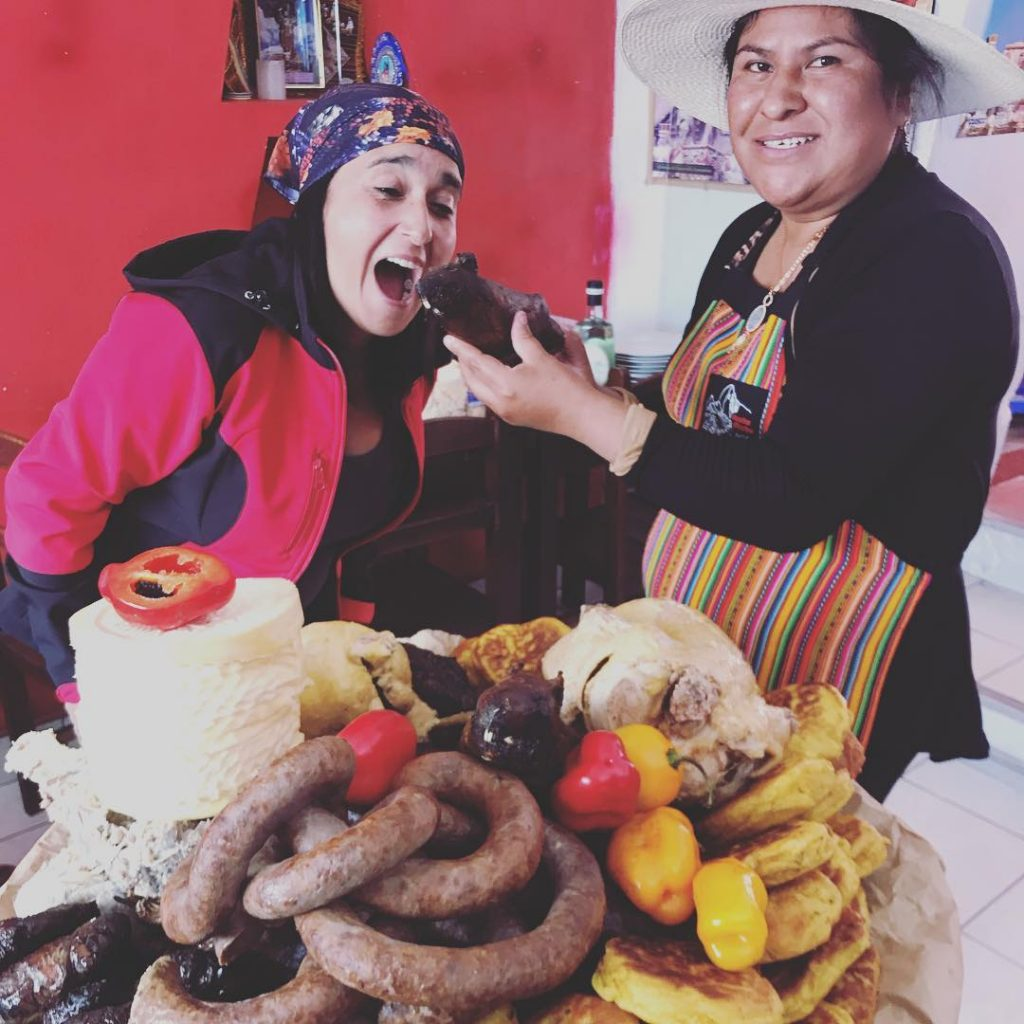 Photo by: @sonalytuesta. Yes, andean people do eat guinea pig.