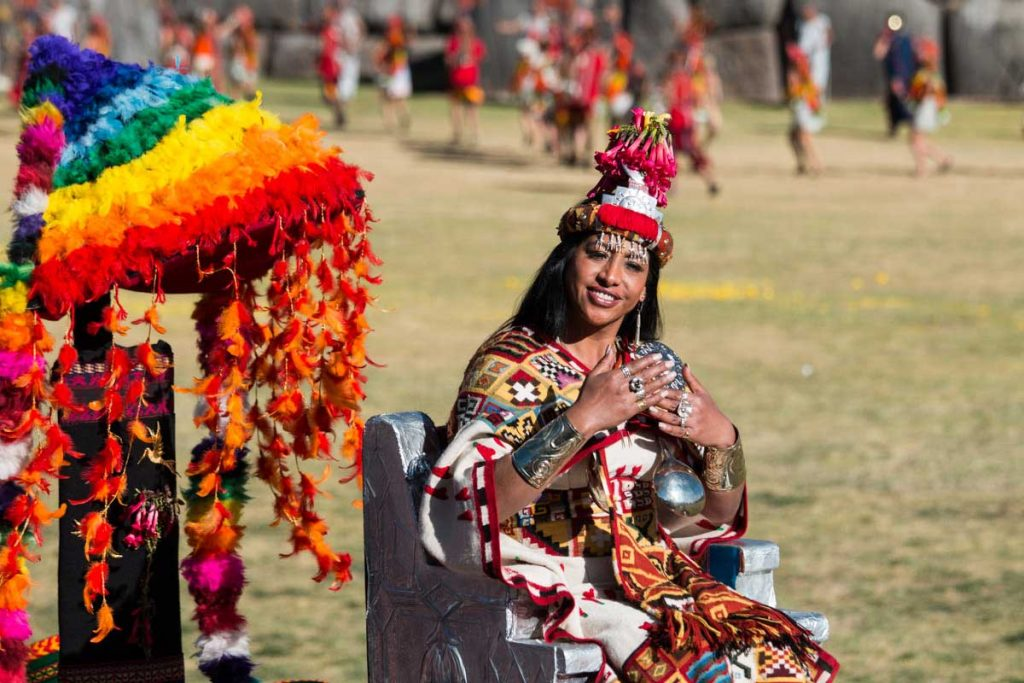 Happy Inca Queen at Inti Raymi