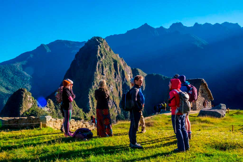 Machu Picchu and people