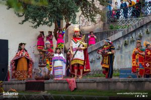 Inca People Offering to the Pachamama