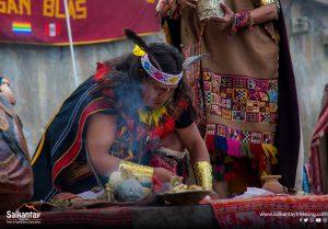 Sacred ceremony to Pachamama