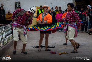People dancing traditionally