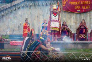 Inca ceremony to Pachamama