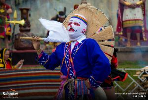 Dancer in traditional ceremony to Pachamama
