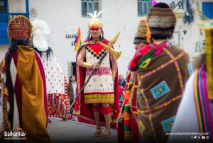 Inca king on ceremony to Pachamama