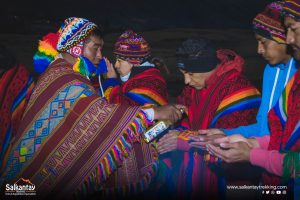 Andean priest in ceremony