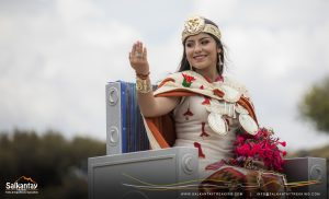 Inca queen greeting in Warachikuy ceremony