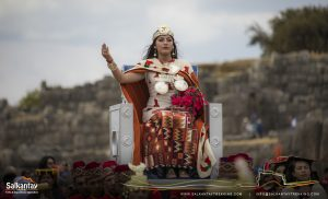 Inca queen in Warachikuy ceremony