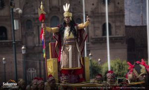 The Incan king in Warachikuy ceremony
