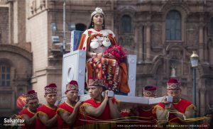 Inca queen procession in Warachikuy ceremony