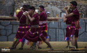 Young andean warriors in Warachikuy ceremony