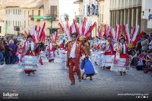 Traditional dancers in Cusco