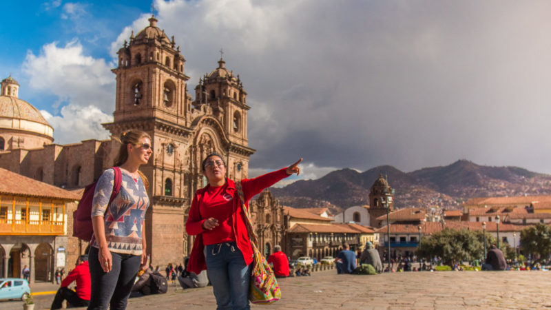 Australian travelers in Cusco
