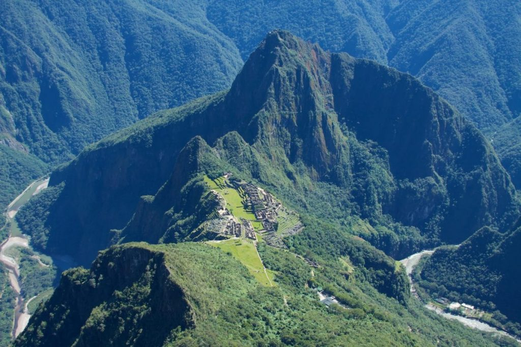 View from Mountain Machu Picchu