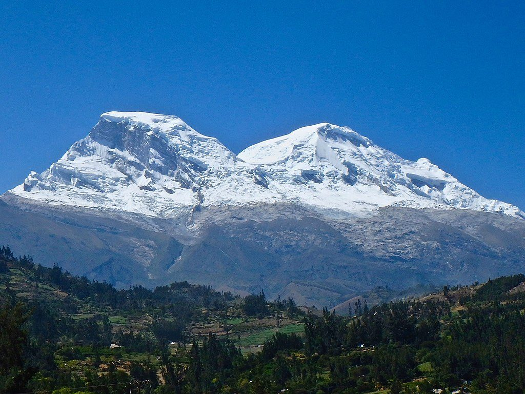 Huascarán the highest mountain in Peru