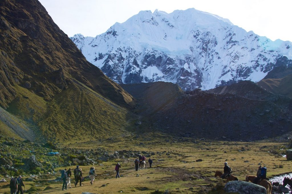 Salkantay mountain and people