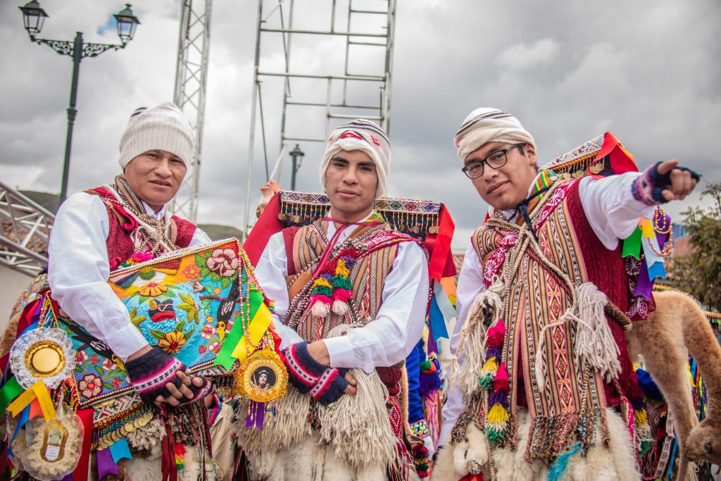 Three man in traditional outfits