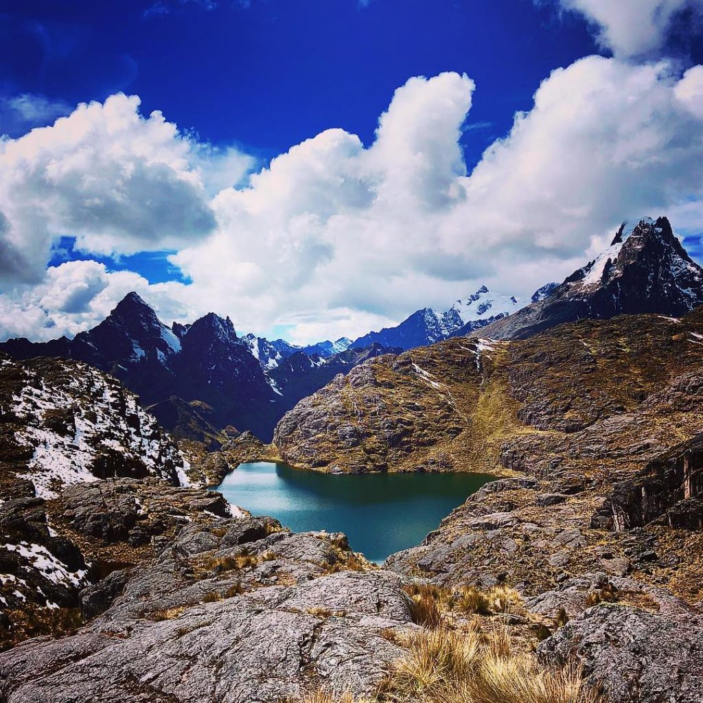 Beautiful lake on Lares trail