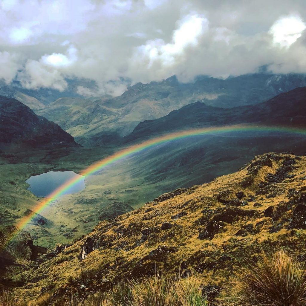 Rainbow in Lares trail