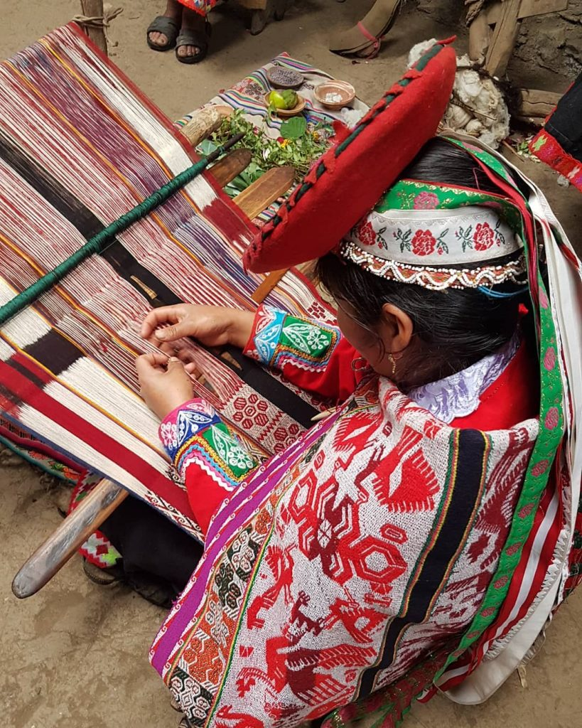 Sophisticated textile art in Lares route