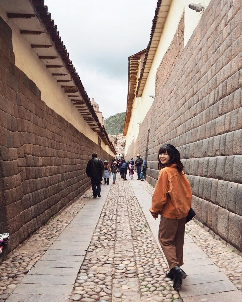 Streets of Cusco and woman