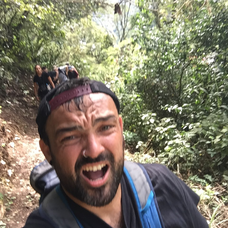 Suffering tourist at Inca Trail