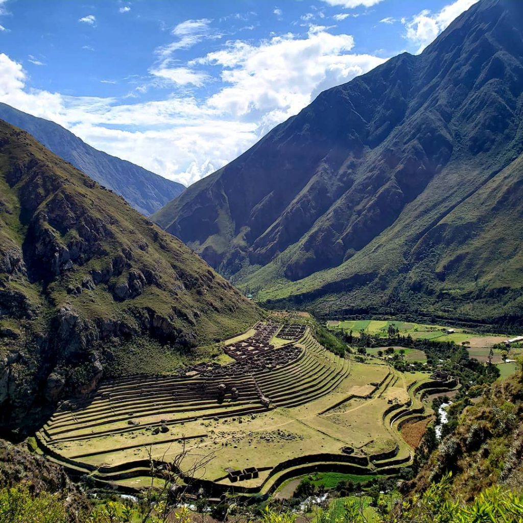 Archaeological site at Inca Trail