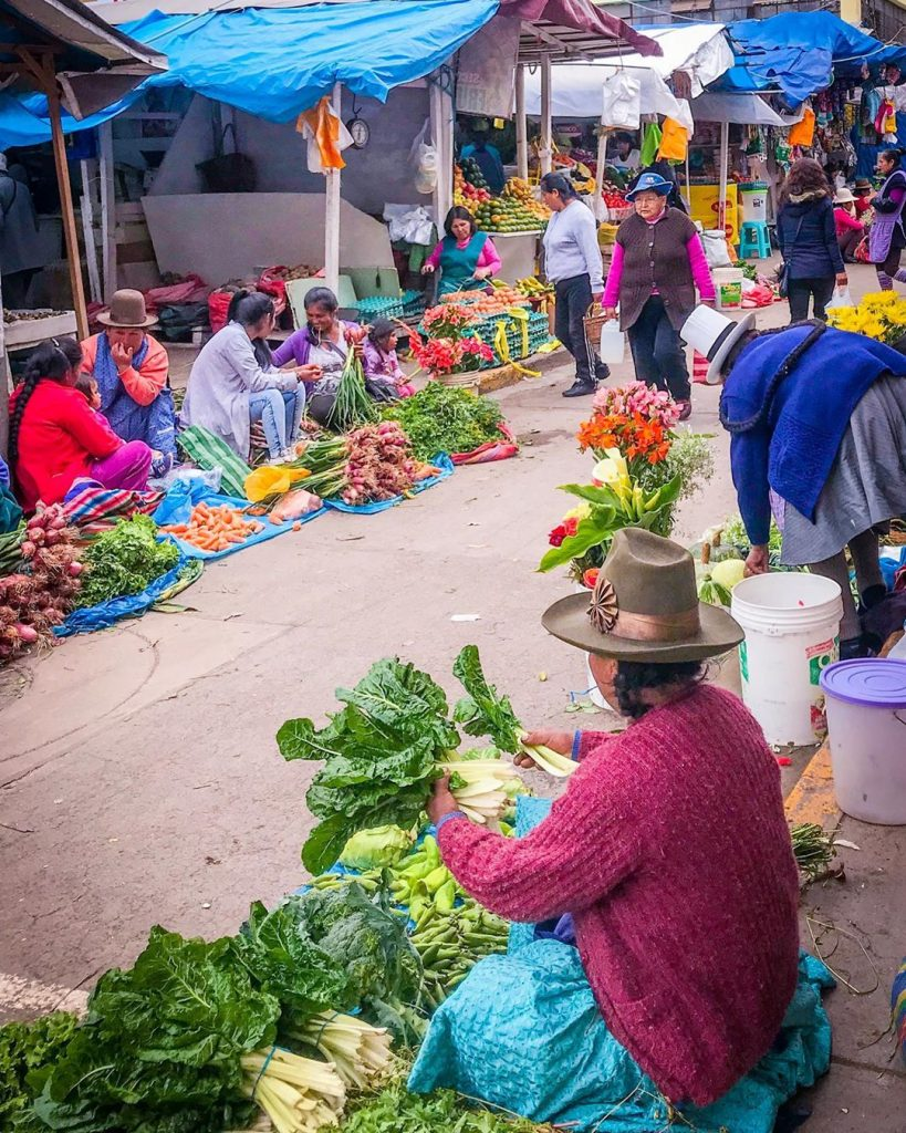 A vegetable seller at Cusco streets