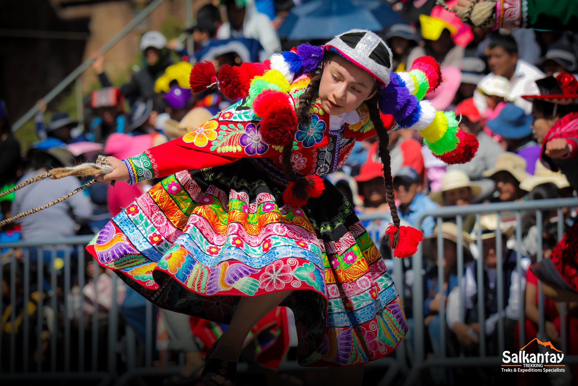 The Colorful Outfits Of Cusco During The Traditional Dance Competition Between Schools Peru Travel Guide General Information About Peru