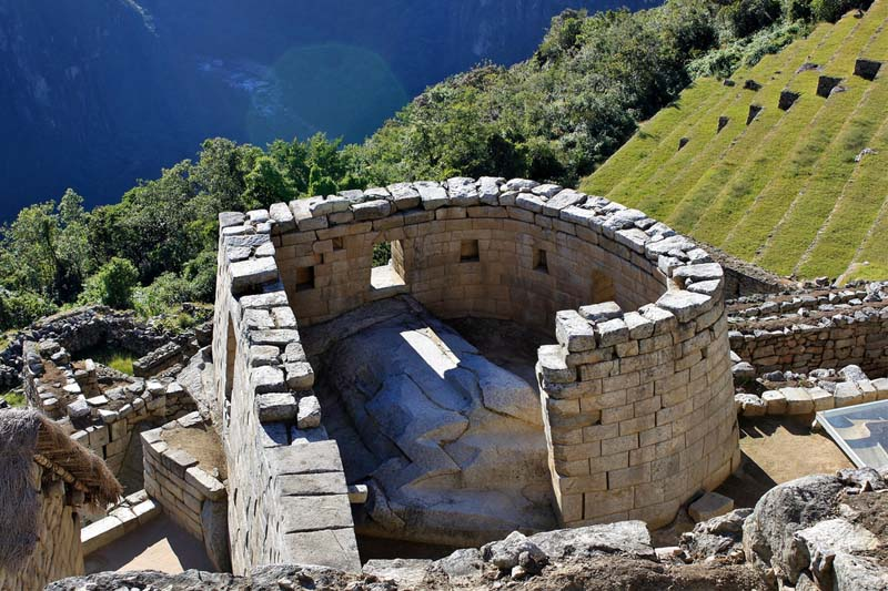 Stone temple in Machu Picchu
