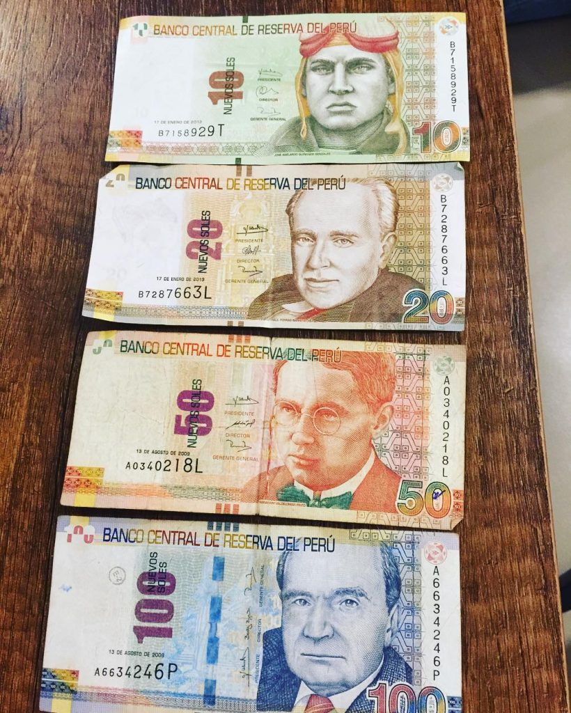 Money things need travel Peru Cusco