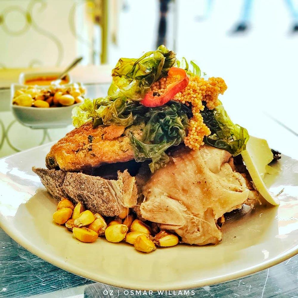 Traditional dish Cusco chiriuchu cuy guinea pig
