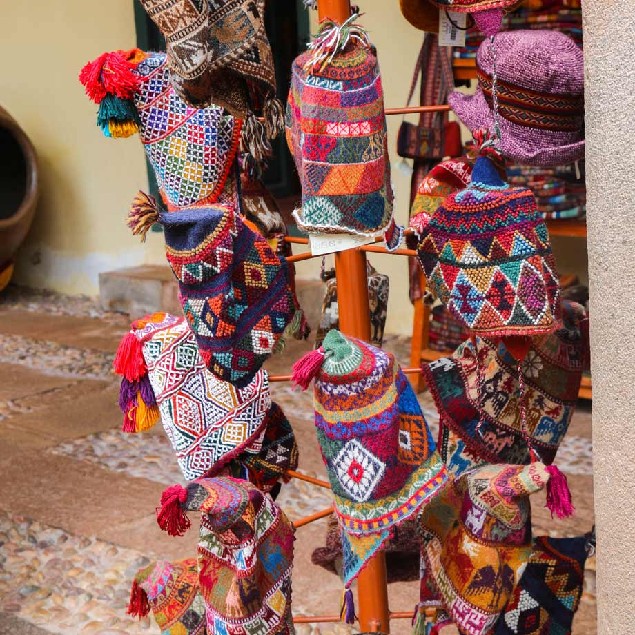 Hats or chullos in Cusco