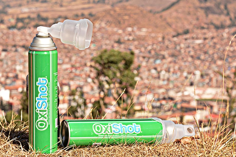 Oxyshot is a can of oxygen and it help you in altitude