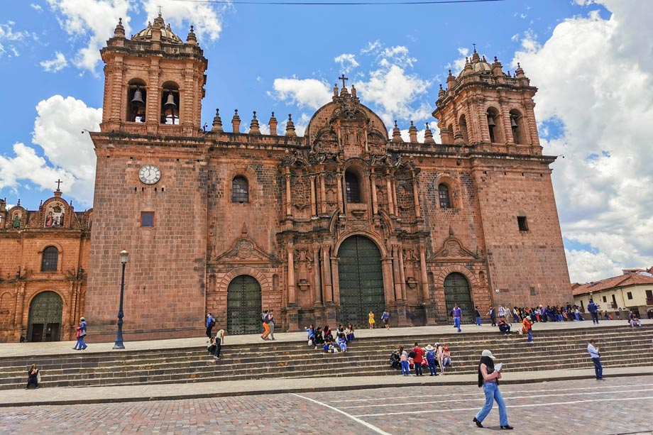 The Cusco Cathedral in the Plaza de Armas