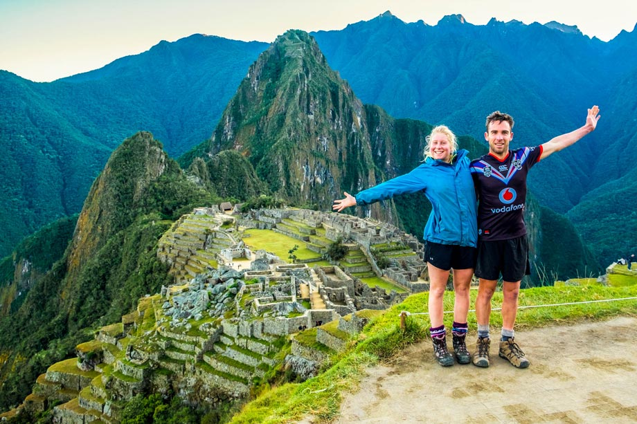 Traditional photo taken in Machu Picchu