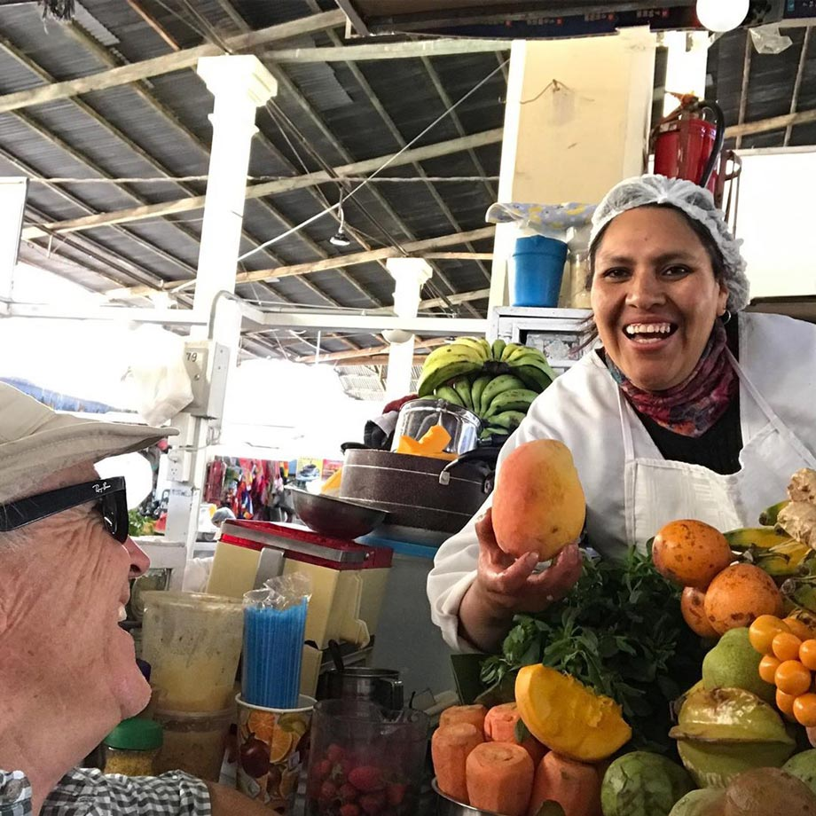 Practice your Spanish in markets like San Pedro market