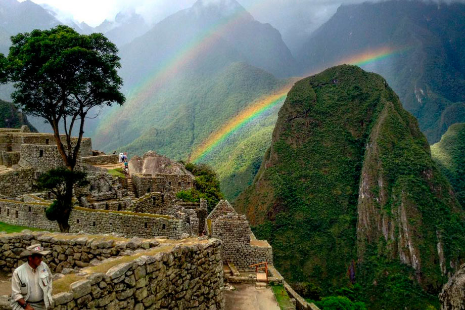 See Machu Picchu in a Different Way. rainbow