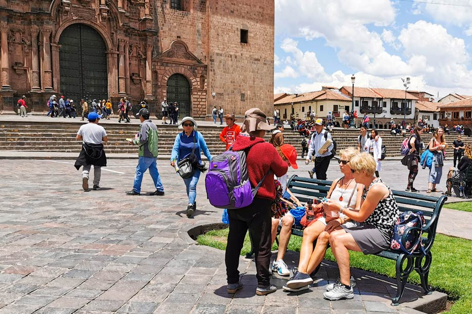 Sit on a Bench in the Plaza de Armas