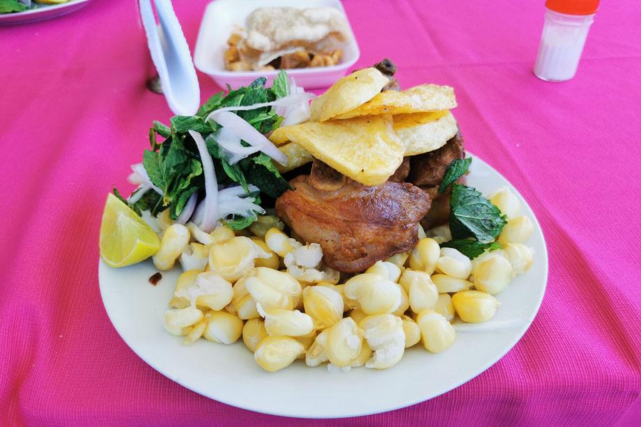 Try Some Traditional Food, chicharron, pork