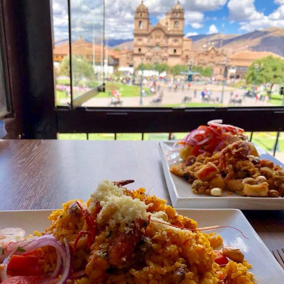 Visit a Top Restaurant, Plaza de Armas