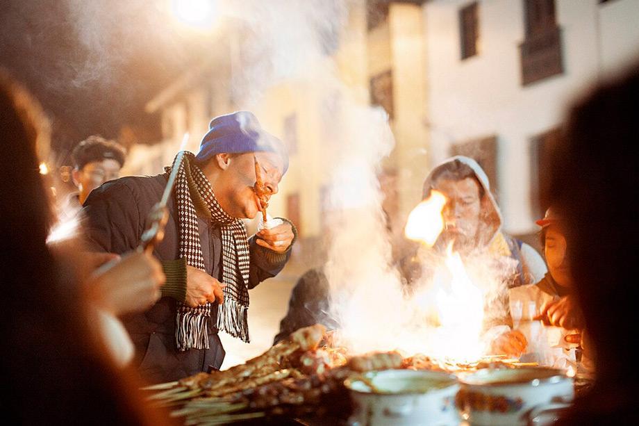 Anticuchos, street food