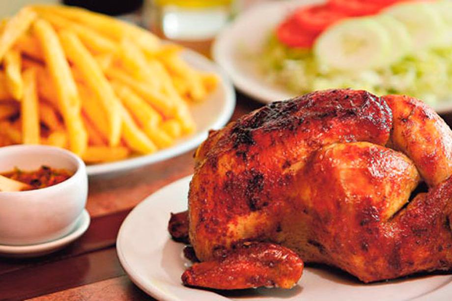 Pollo a la Brasa, chicken with potatoes