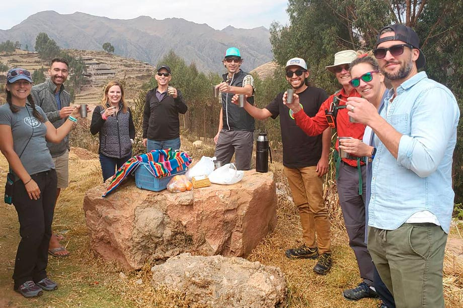 Stay hydrated, hiking food peru