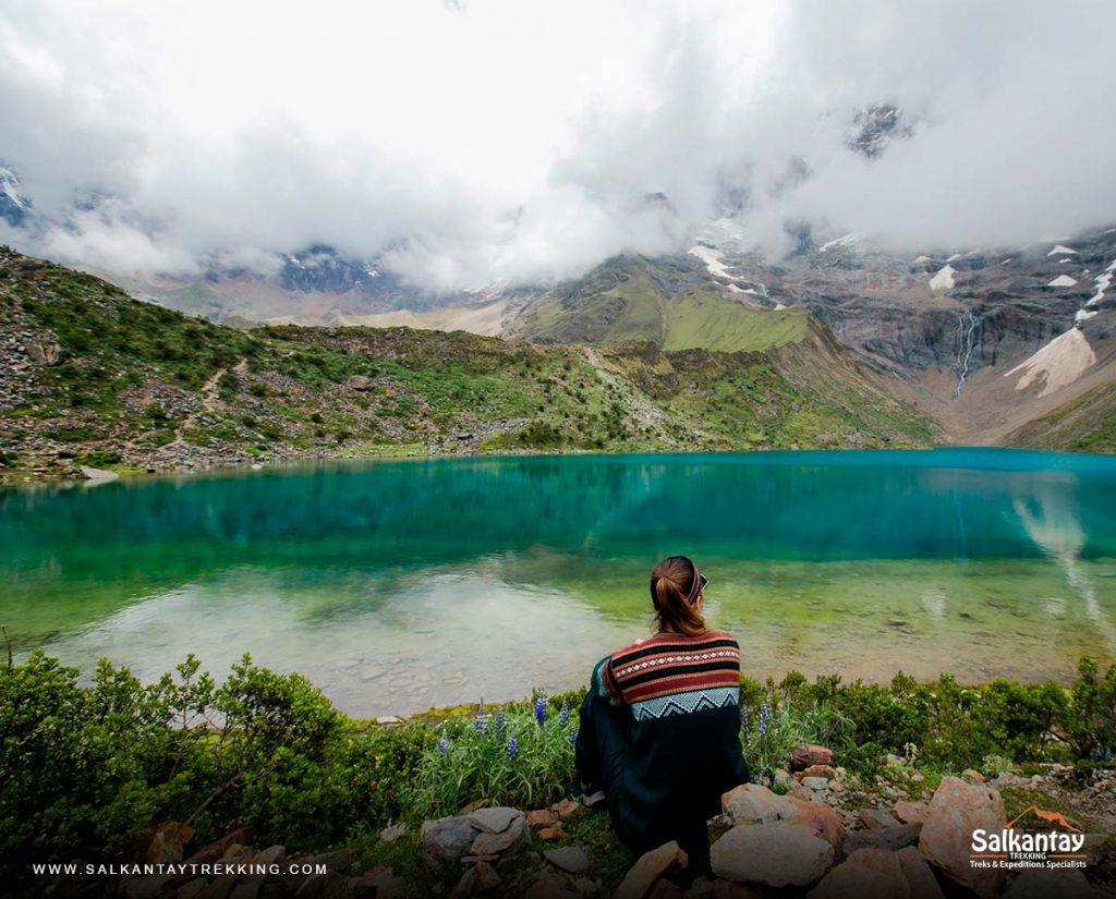 The beautiful humantay lagoon in Cusco