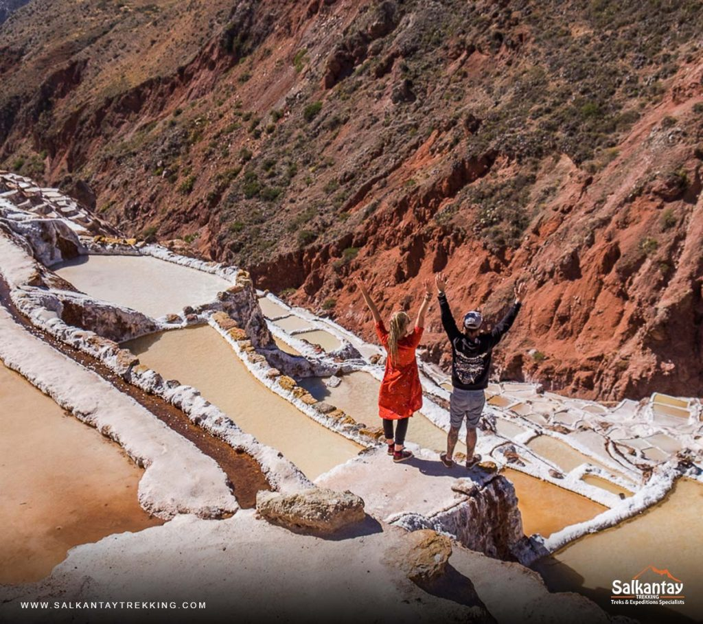 Panoramic view of Maras - Salt Mines in Cusco